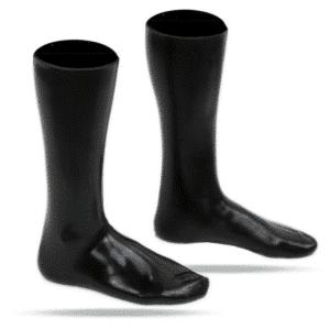 Latex Socken seitenansicht Damen
