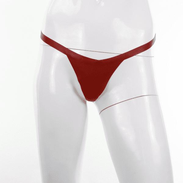 String Tanga für Damen aus Latex rot