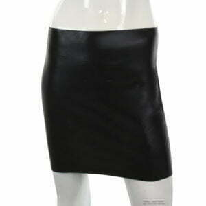 Latex Mini Rock für Damen
