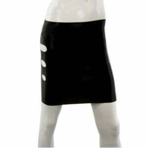 Mini Rock aus Latex für Damen