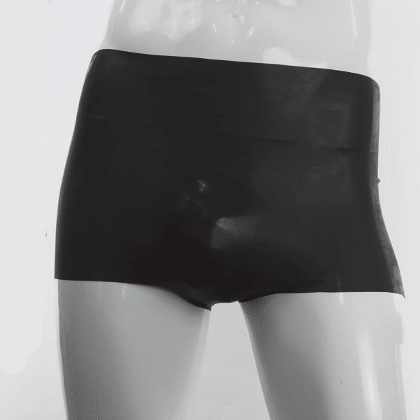 Schwarze Latex Hotpants für Männer 100% Latex