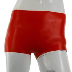 Latex Hotpants für Frauen rot