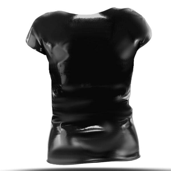 Schwarzes Latex T-Shirt für Herren